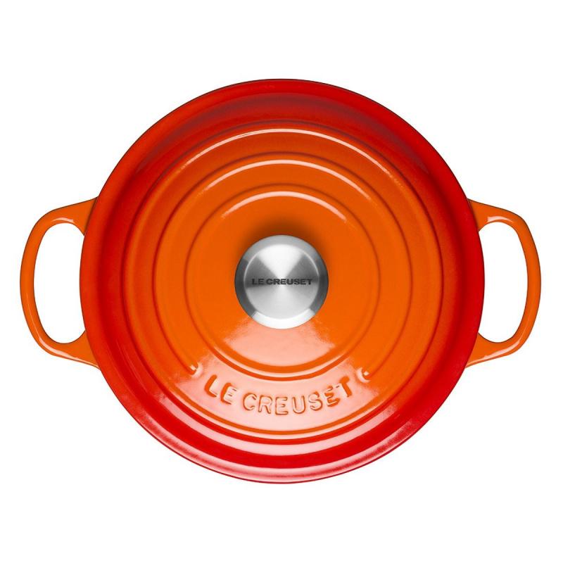 Le Creuset 圓形鑄鐵鍋 28cm 橙色
