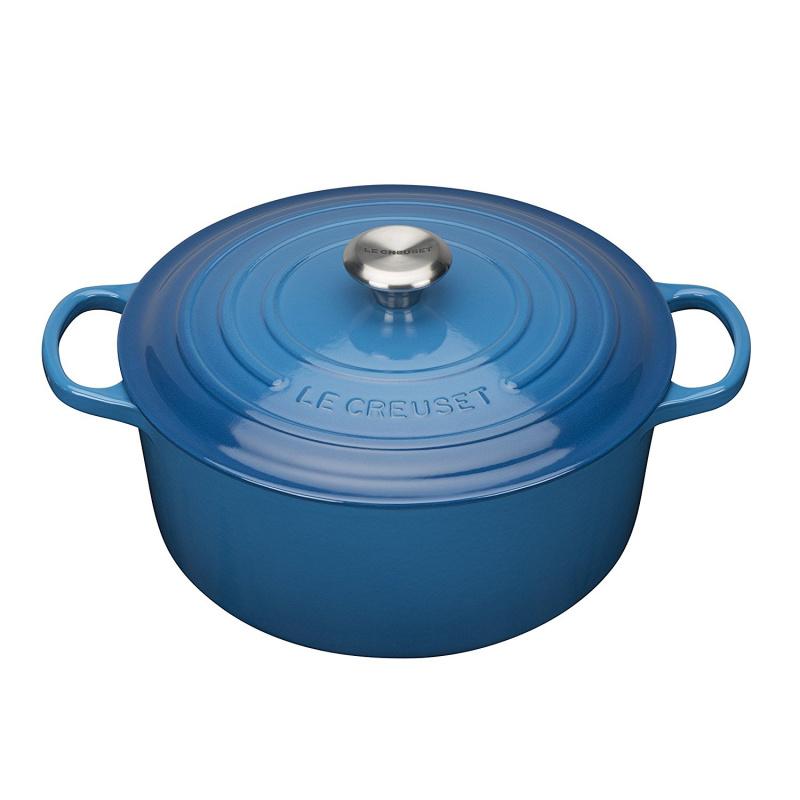 Le Creuset 圓形鑄鐵鍋 藍色 (2個尺寸)