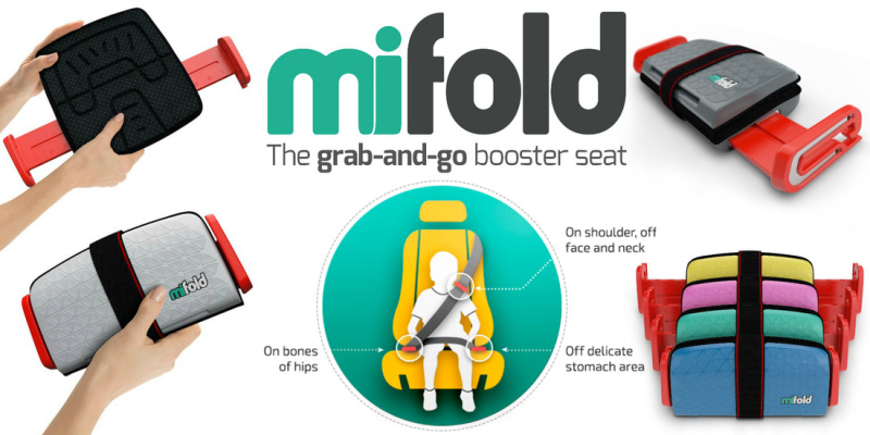 Mifold Grab-and-Go Booster Seat 可摺式汽車安全座椅 [3色]