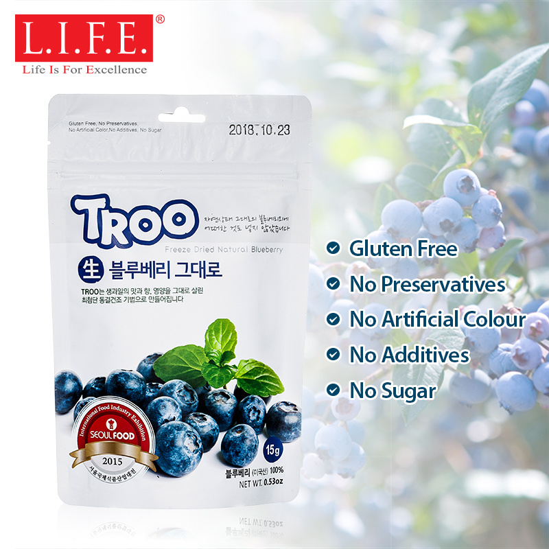 獲獎韓國天然冷凍乾果 (藍莓)