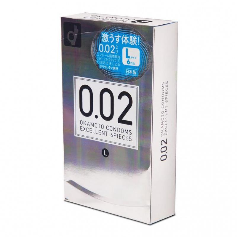 一盒 日本OKAMOTO岡本0.02安全套(6個)