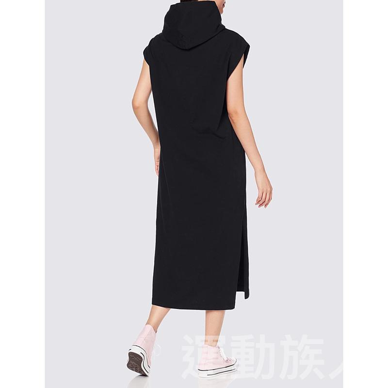 【💥日本直送】Champion 帶帽 無袖 側開叉 連衣裙 女士 純棉 M/L可選 黑色