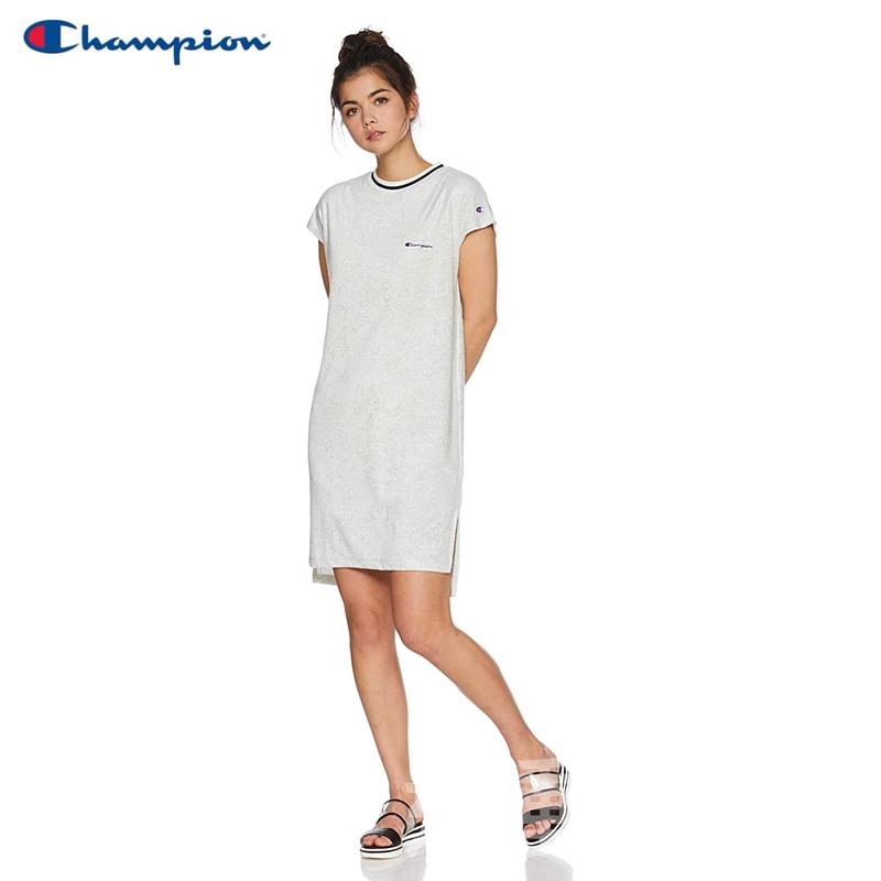 【💥日本直送】Champion 法式袖連衣裙 女士 基本款 淺灰色 M/L可選