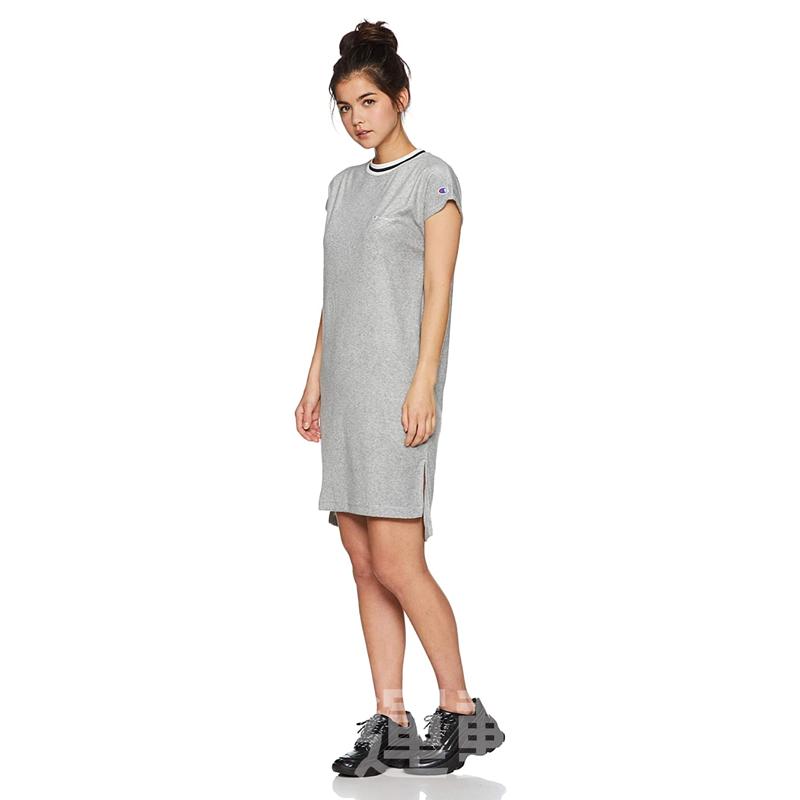 【💥日本直送】Champion 法式袖連衣裙 女士 基本款 灰色 M/L可選