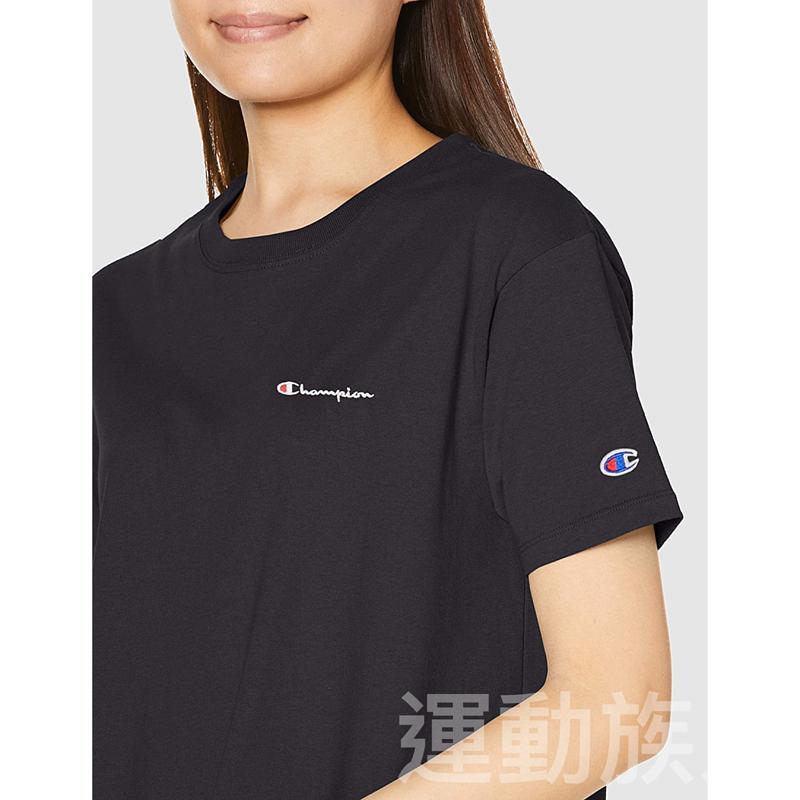 【💥日本直送】Champion 圓領連衣裙 女士 基本款 100%純棉 黑色 M/L可選