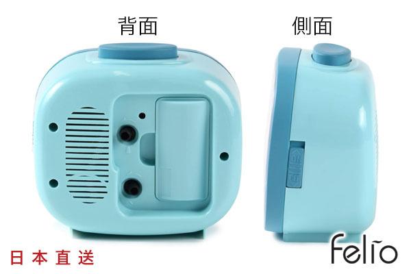 日本Felio懷舊簡約座檯鐘 (粉藍)