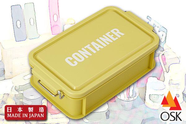 型格戰地風外攜餐盒 (黃/750ml) 日本製造