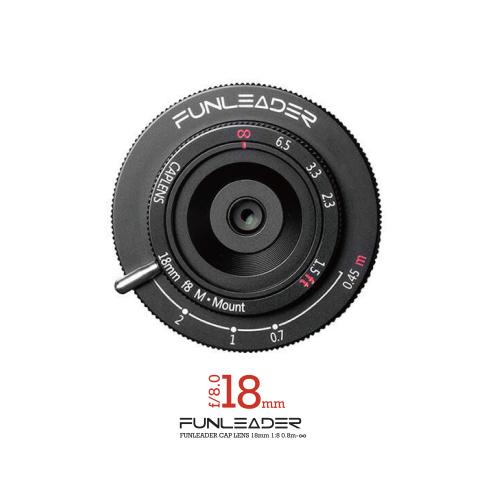 [現貨發售]~FUNLEADER CAPLENS 18mm F8.0/0.45m-∞ M-mount (黑)