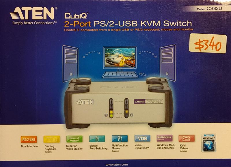 ATEN CS82U 2-Port PS/2-USB VGA KVM Switch