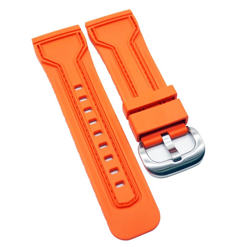 28mm SevenFriday 優質橙色代用膠錶帶