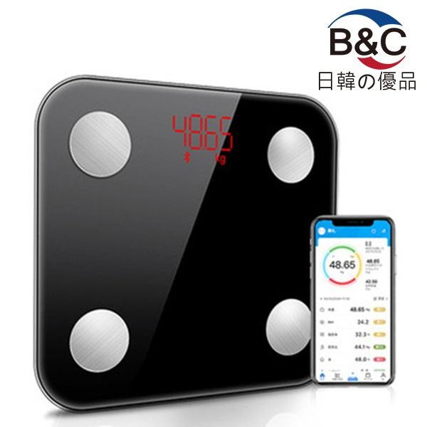 韓國B&C USB充電智能APP電子磅 藍牙體脂磅 脂肪秤 人體稱 體重磅