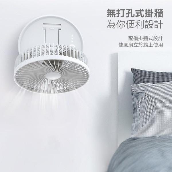 日本JTSK 新款7寸USB充電折疊伸縮檯燈風扇