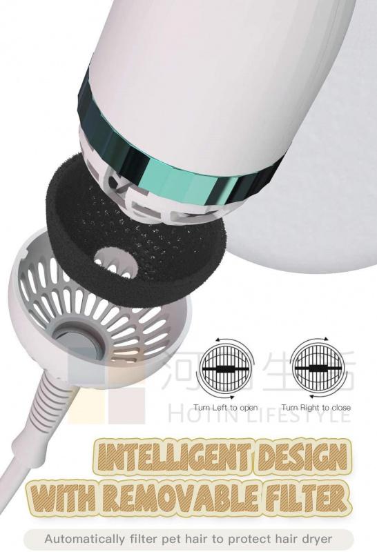 寵物2合1 風筒毛梳 吹風機 貓狗捲梳 |3種加熱設定|專業寵物|美容|