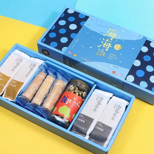 台灣製 海邊走走 2021海海派綜合禮盒 (蛋捲, 激厚蛋捲, 海苔滋夏威夷豆)