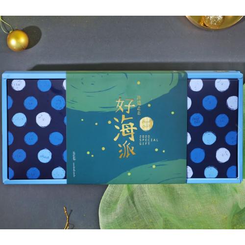 台灣製 海邊走走 綠金海派綜合蛋捲禮盒
