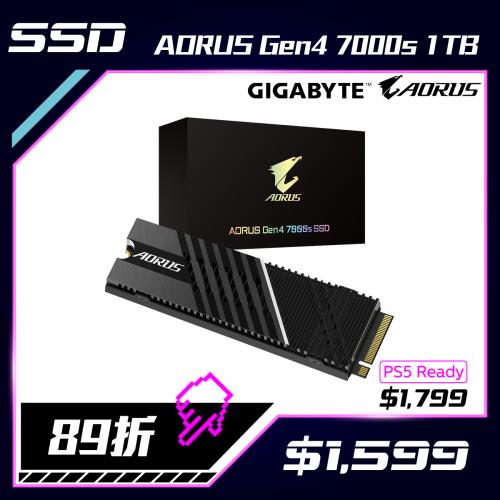 GIGABYTE AORUS Gen4 7000s SSD 1TB 固態硬碟 [GP-AG70S1TB]