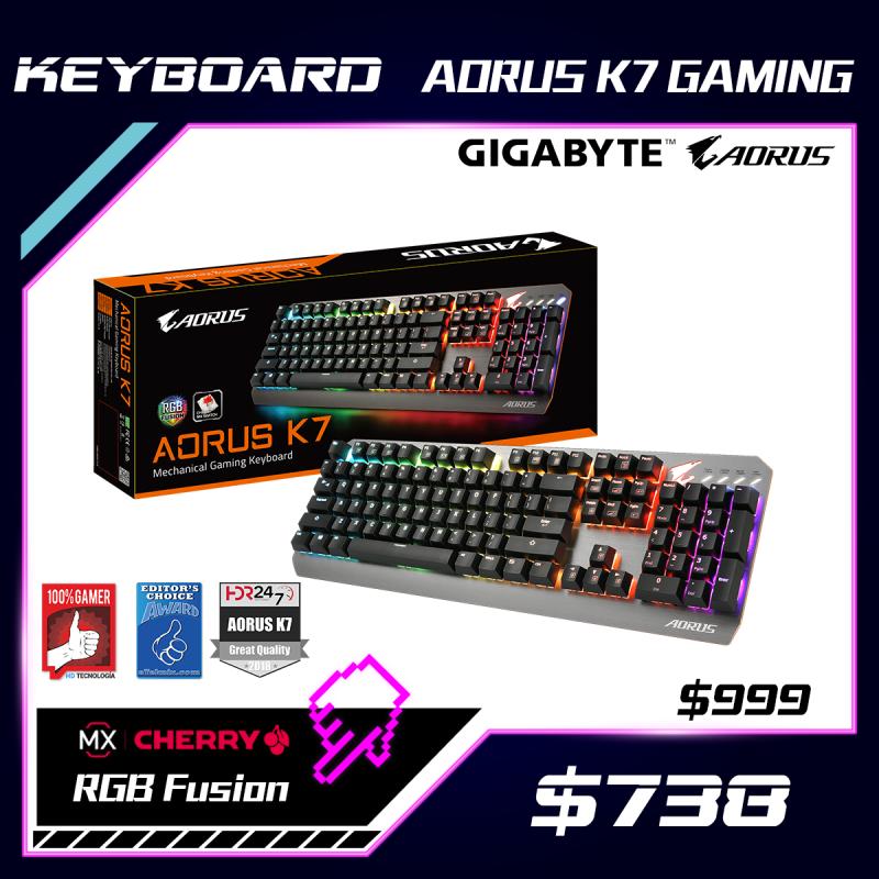 GIGABYTE AORUS K7 電競鍵盤 (Cherry MX 紅軸)