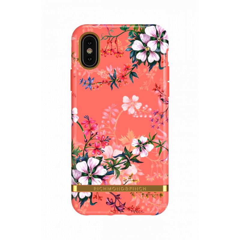 Richmond & Finch iPhone X/XS Case - 珊瑚幻夢Coral Dreams - Gold Details ( IPX-601 )