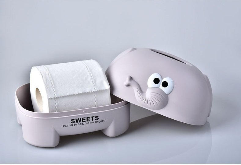 可愛大象紙巾盒 Tissue Box