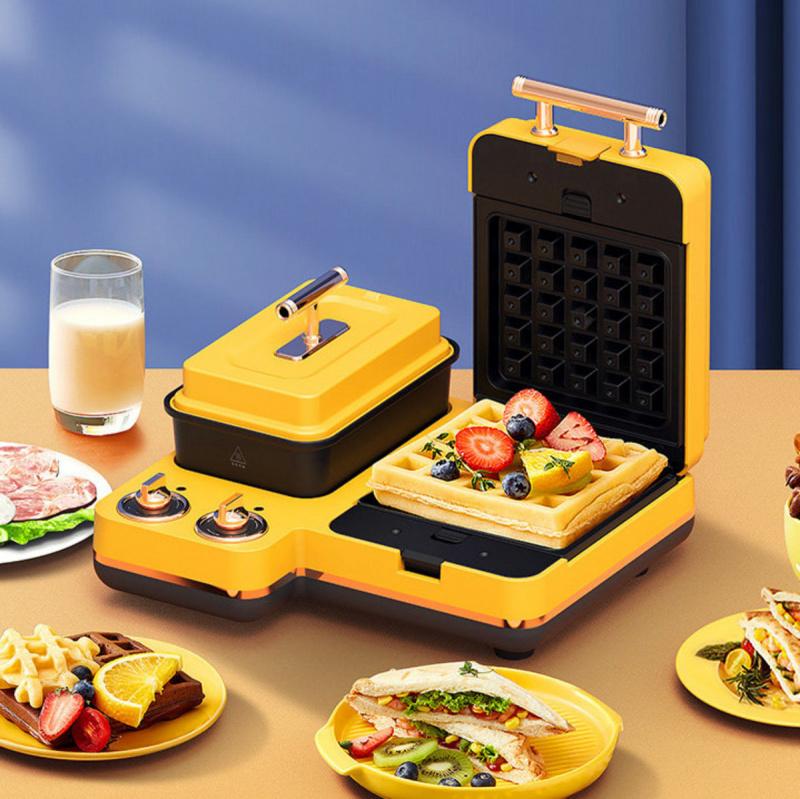 蒙達Monda 多功能早餐機 輕食三文治機 (包含三文治烤盤+窩夫烤盤)MD-SM6001 - 煮麵 早餐 煮食 煎 燜