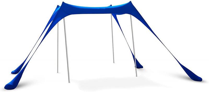 彈出式海灘帳篷遮陽罩 天幕 營幕 UPF50+ 附穩定桿