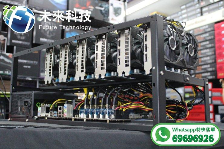 【裝軟件即用】RTX2060六張顯示卡礦機