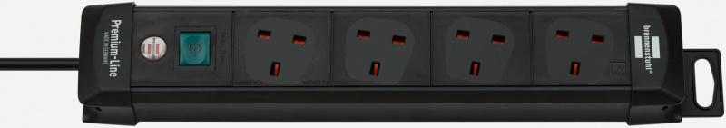 brennenstuhl 四位帶燈開關拖板 (1.8米, 黑色) 1951143100 (62-19-3114)