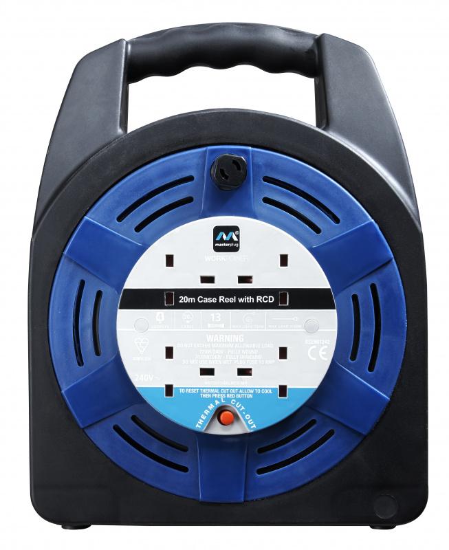 英國Masterplug 4 X 13A 20米拖轆 HBT2013/4BL 藍黑色