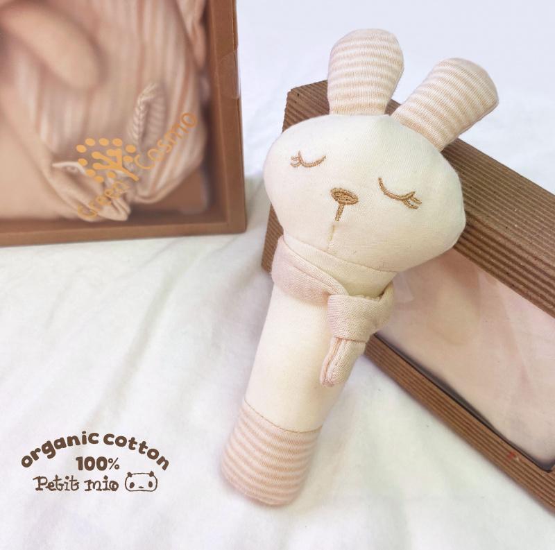 Petitmio - 100%有機棉安撫手握棒棒玩具 (邦妮兔)