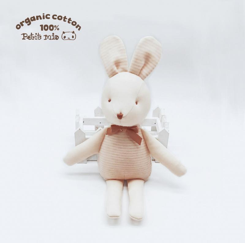 Petitmio - 100%有機棉安撫抱抱公仔 (邦妮兔)