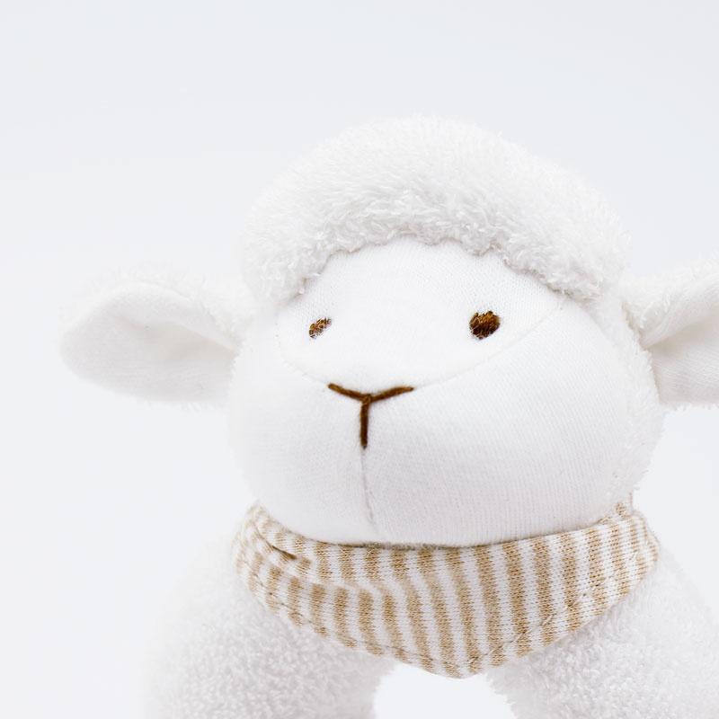 (Babymio) 100%有機棉安撫手搖鈴(羊羊)