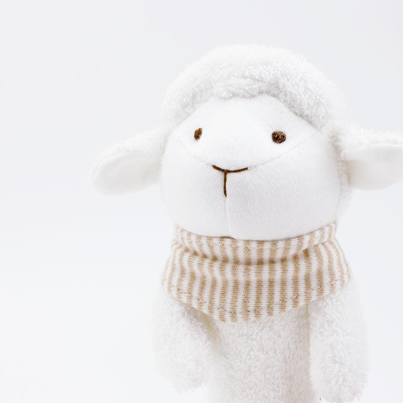 Babymio 100%有機棉安撫手握啾啾棒 (羊羊)