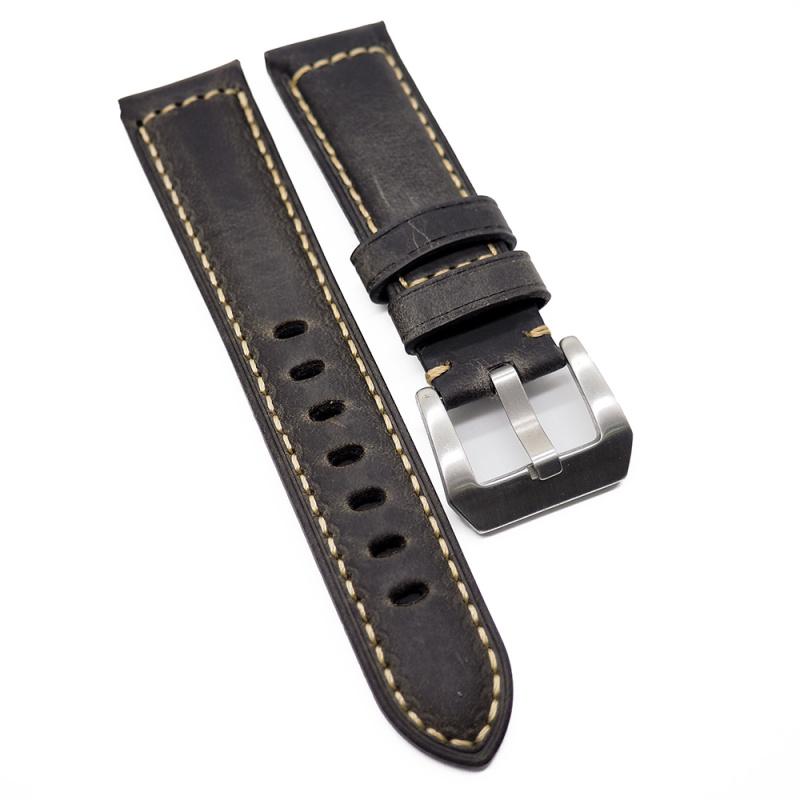 22mm Panerai 千歲茶色牛皮代用錶帶