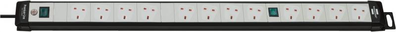 brennenstuhl 十二位帶燈兩組掣開關拖板 (3米, 灰黑色) 1951523600 (62-19-4012)