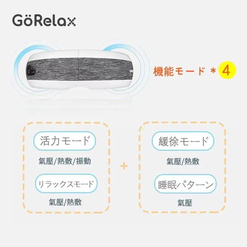 【全港免運】韩国 GoRelax EMV-3000 4D溫感智能按摩眼罩 (藍牙版)