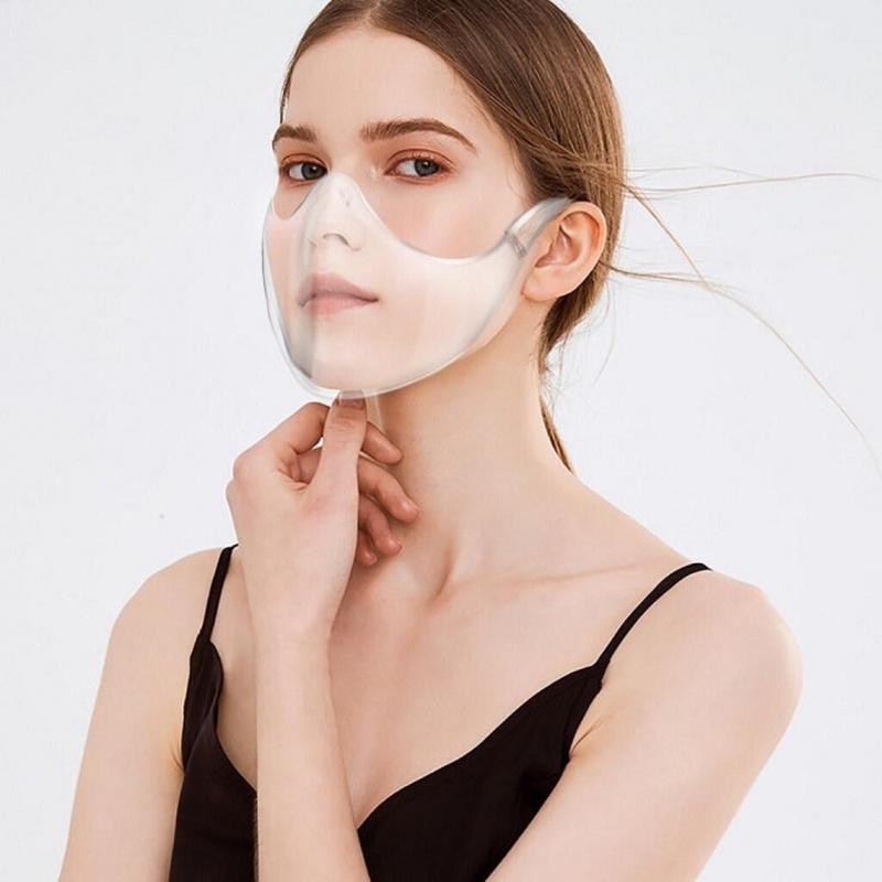 跑步運動防飛沫透明露面口罩