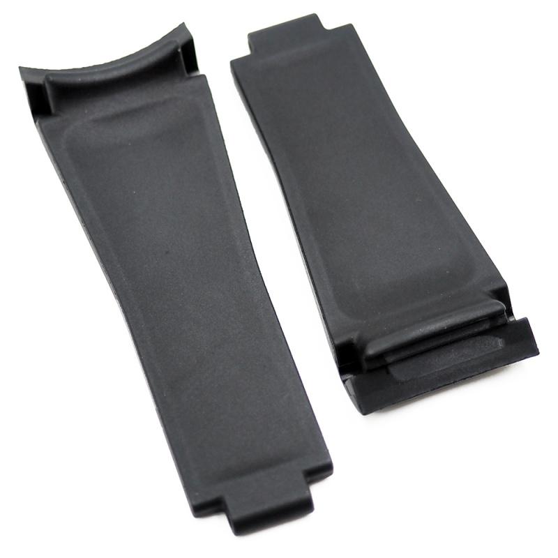 20mm 優質 Rolex 黑色彎頭代用橡膠錶帶