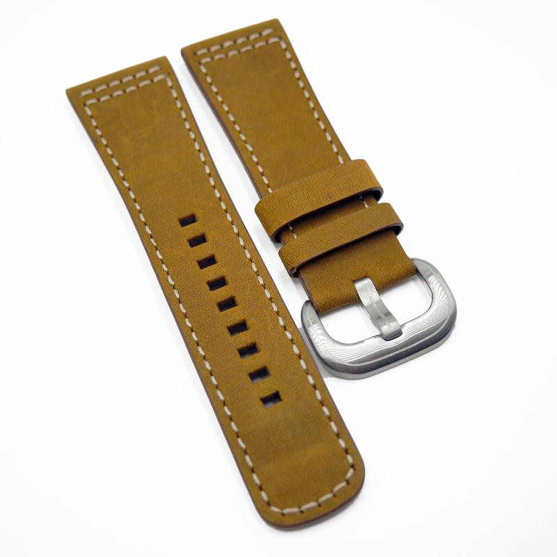 28mm SevenFriday 煙草啡色代用牛皮錶帶