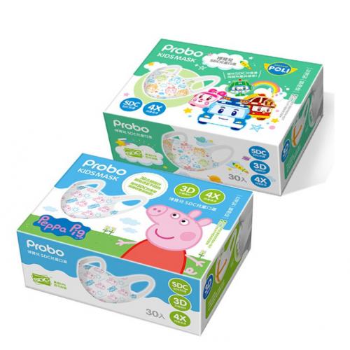 台灣製 博寶兒 SDC 醫用兒童3D立體口罩 (30入) (Peppa Pig/ POLI)