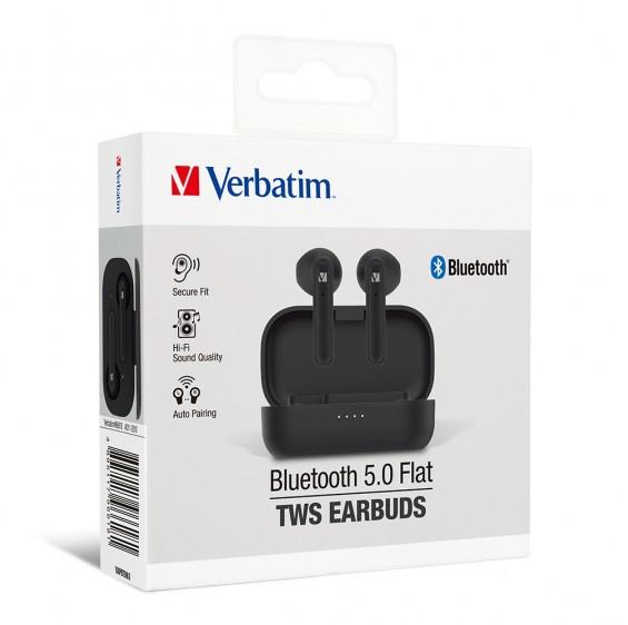 Verbatim 藍牙5.0平耳式真無線耳機