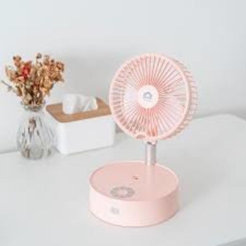 家の逸 - 日本 Yohome (升級搖頭版) 多功能折疊加濕風扇 - 小夜燈 霧化空氣加濕 可拆卸 無線使用