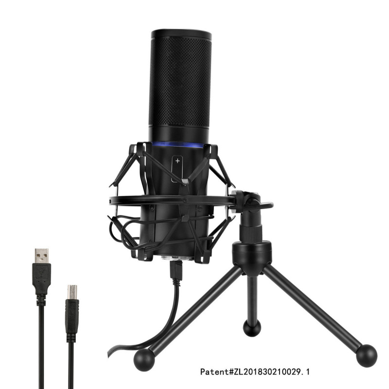 Yanmai - Q9 USB電容式麥克風 [附座枱三腳支架] Mac Or PC