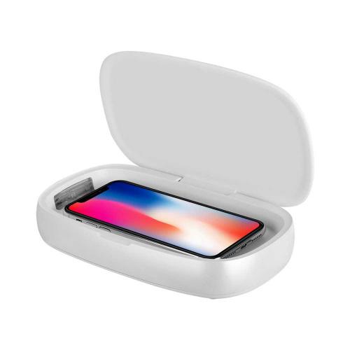 MOMAX Q.Power UV-Box 無線充電紫外光消毒盒 (白色) #QU1W