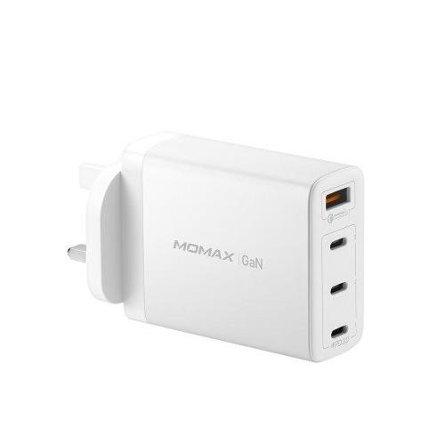 MOMAX OnePlug GaN 100W 四輸出快速充電器 [白色][UM22UKW]