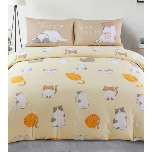 Casablanca 幸福棉之 Lovely Cats 840針活性純棉印花系列床品套裝 懶瞓貓 [4尺寸]