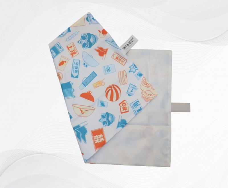 中秋節/ 月餅袋 / 冰皮月餅包裝 原創TPU白色耐用環保食物墊 白色蘭桂芳 A16069A