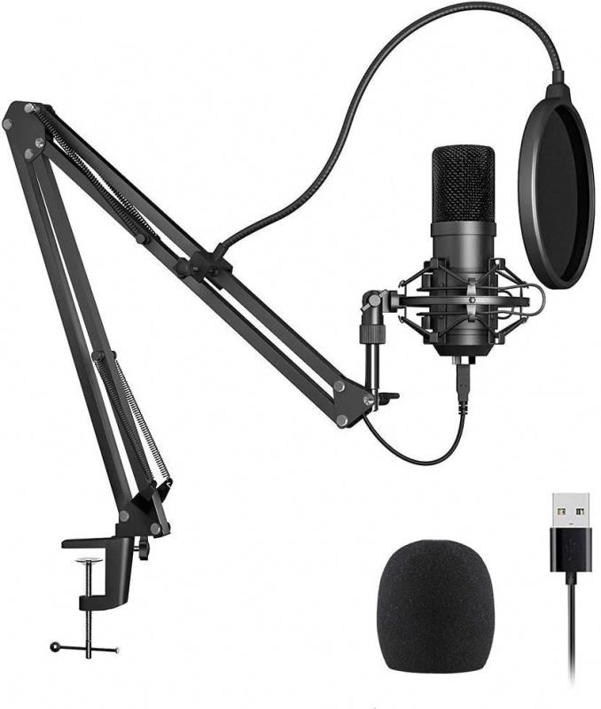 192kHz/24Bit USB 電容Microphone 連支架 即插即用適合iMac Mac PC