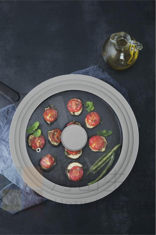 多功能廚房工具矽膠玻璃鍋蓋 鋼化玻璃 帶矽膠輪圈 耐熱 玻璃圓形 雪平鍋蓋 單柄鍋蓋 