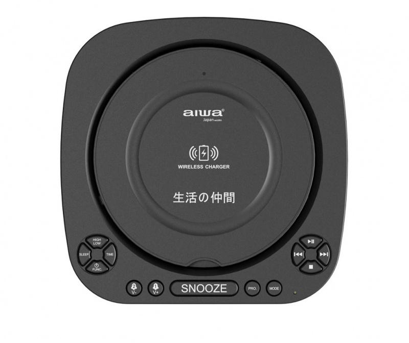 AIWA AW-8818BB 無線充電播放器連藍牙