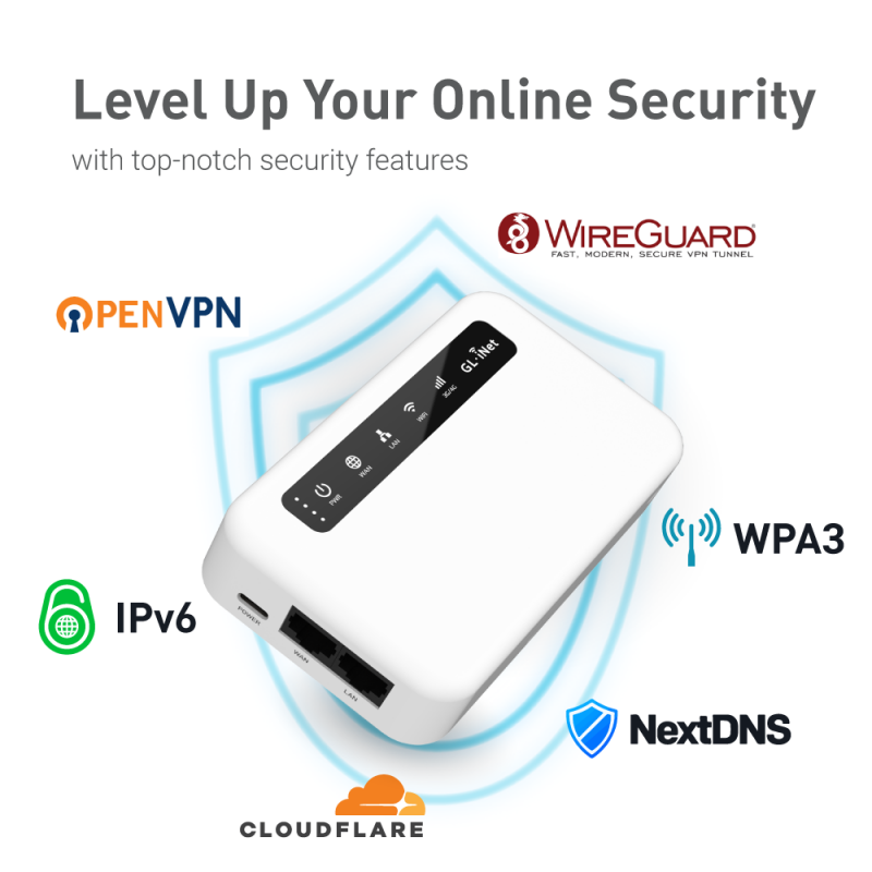 (EU & ASIA version) GL-XE300 (Puli) CAT 6 4G LTE VPN Portable IoT Gateway 5000mA